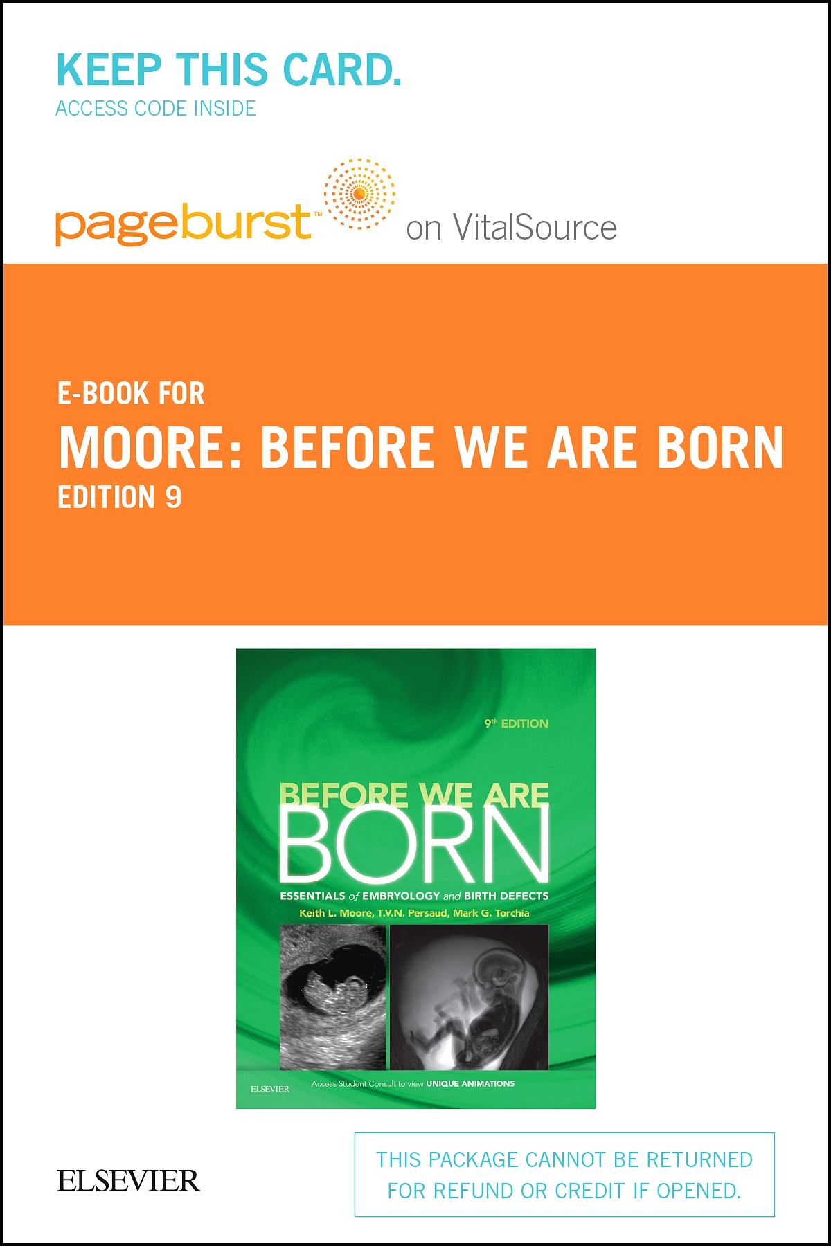 Before We Are Born - Elsevier eBook on VitalSource (Retail Access Card)