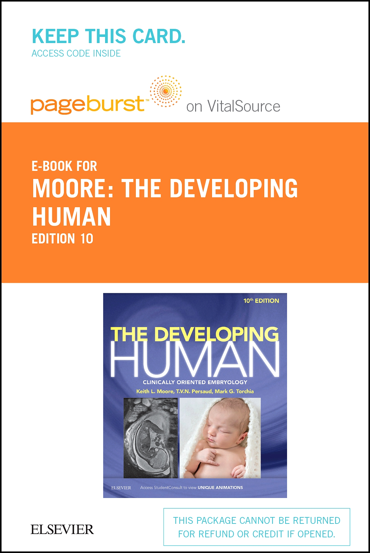 The Developing Human Elsevier eBook on VitalSource (Retail Access Card)