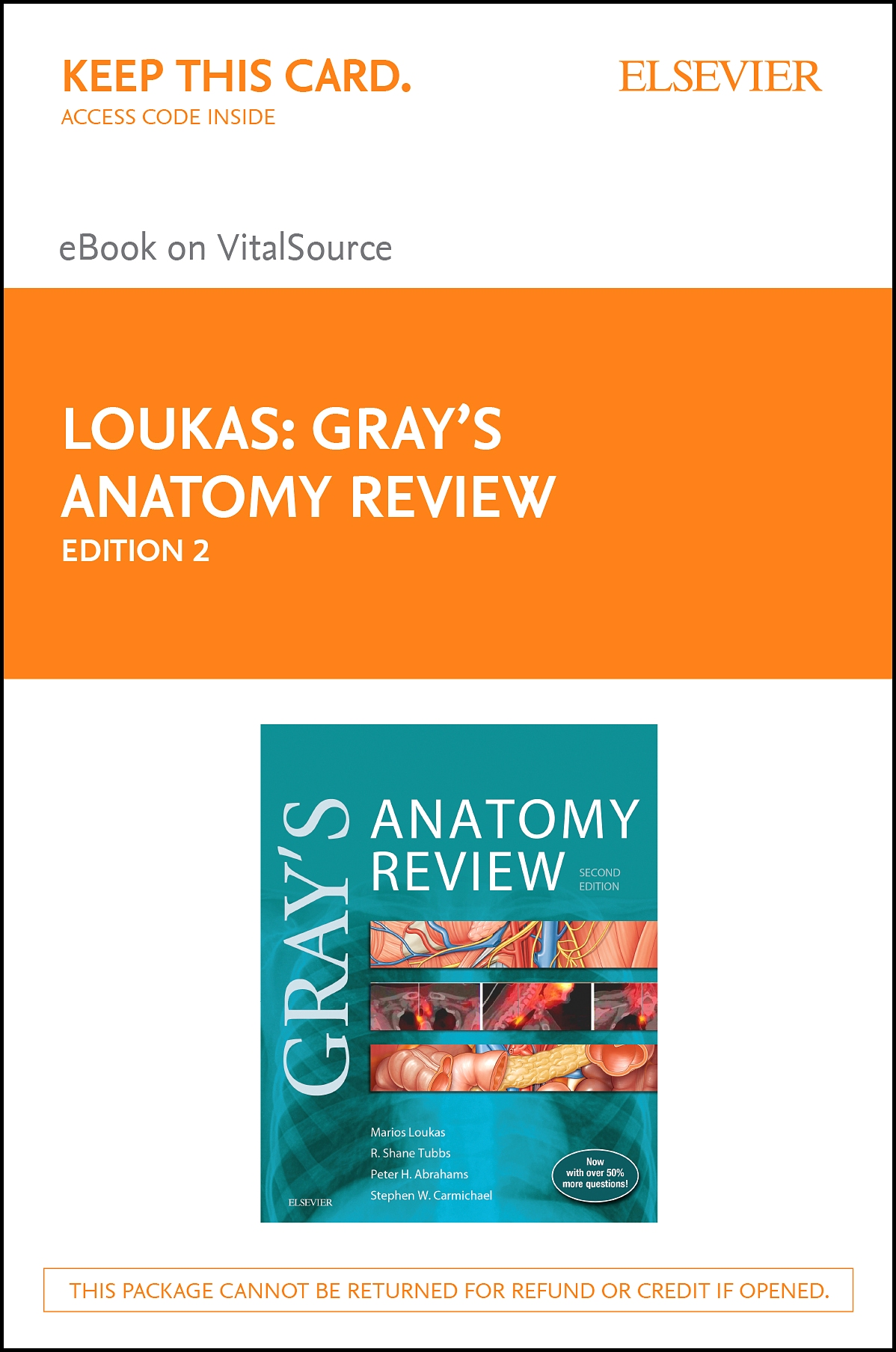 Gray's Anatomy Review Elsevier eBook on VitalSource (Retail Access Card)
