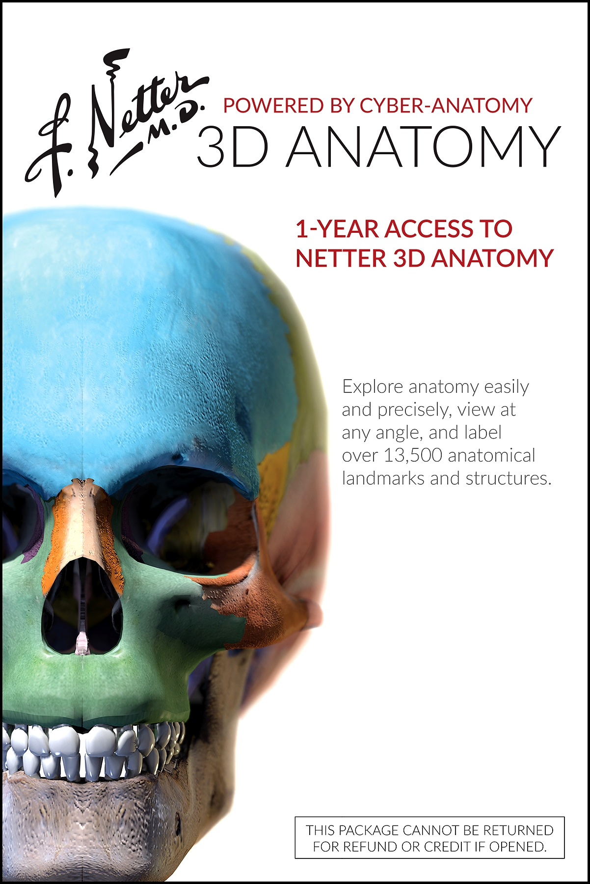 Netter 3D Anatomy (Retail Access Card)