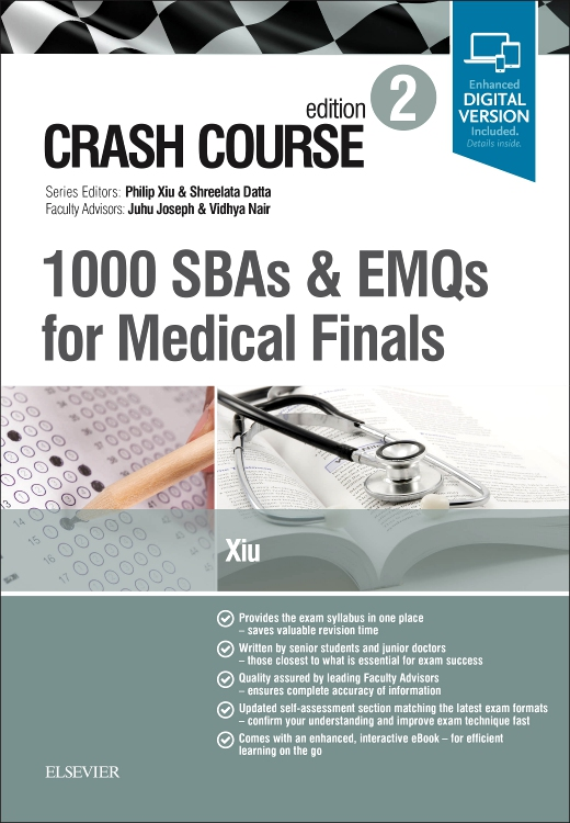 Crash Course 1000 SBAs and EMQs for Medical Finals