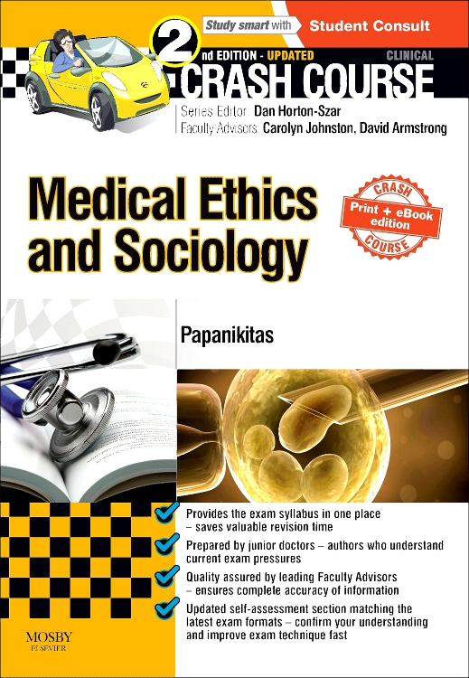 Crash Course Medical Ethics and Sociology Updated Print + eBook edition